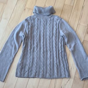 Taupe turtle neck Calvin Klein sweater
